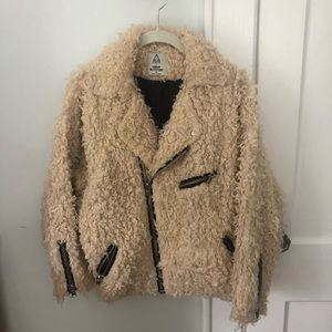 UNIF X Urban Outfitters Shearling Moto Bomber